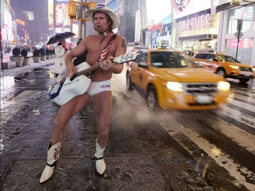 The Naked Cowboy In Times Square, NYC – A Pondering Mind