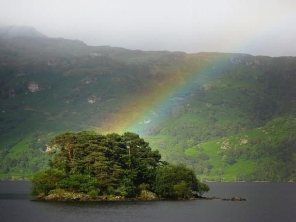 Rainbow over Loch Lomond, Scotland