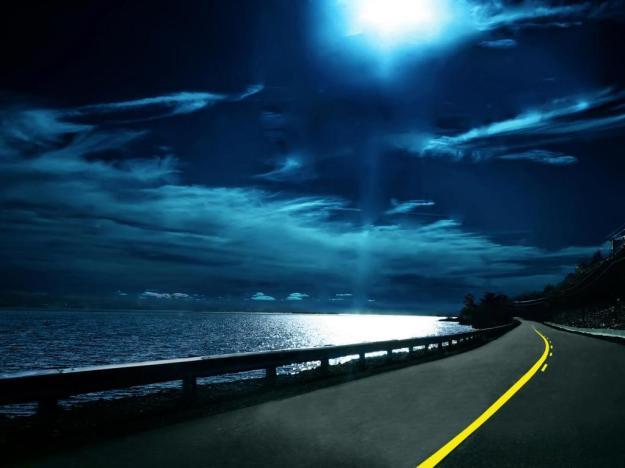 Moon-lit water