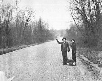 Hitchhikers Vicksburg 1936