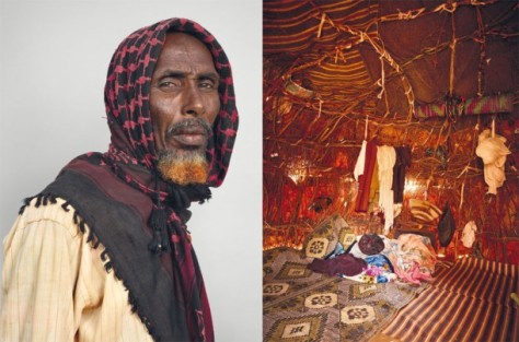 Somali Refugee and his home.