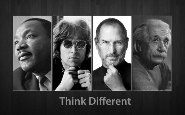 Martin Luther King Jr. John Lennon Steve Jobs Albert Einstein