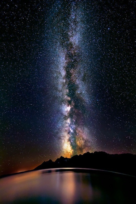 The Milky Way over Lake Titicaca, Peru