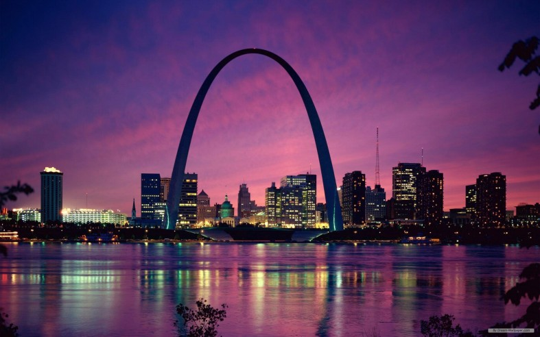 The Arch in St. Louis, Missouri