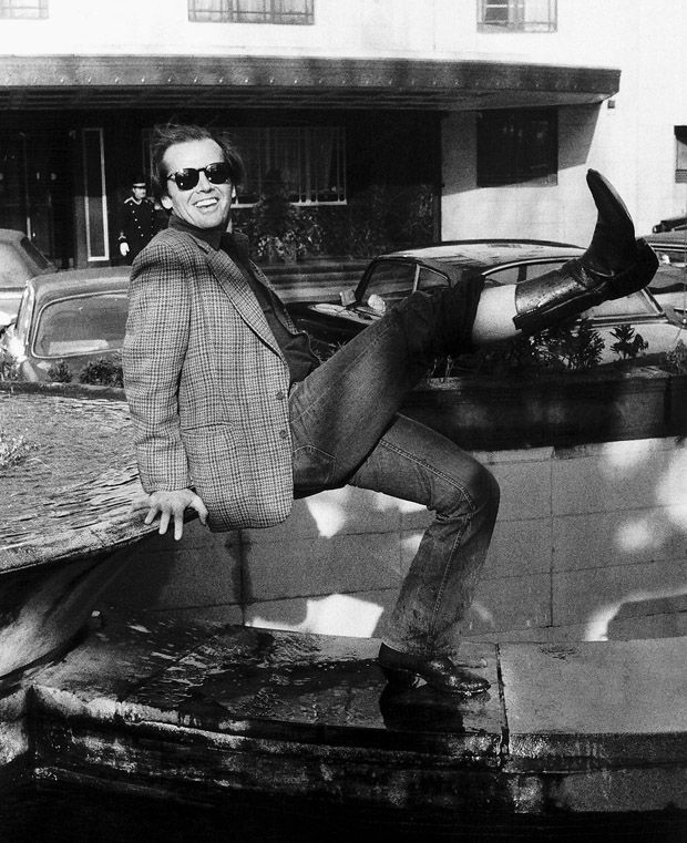 Jack Nicholson in London to promote One Flew Over the Cuckoo's Nest.