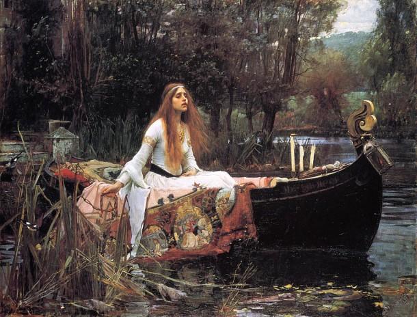 The Lady of Shalott (1888) by John William Waterhouse
