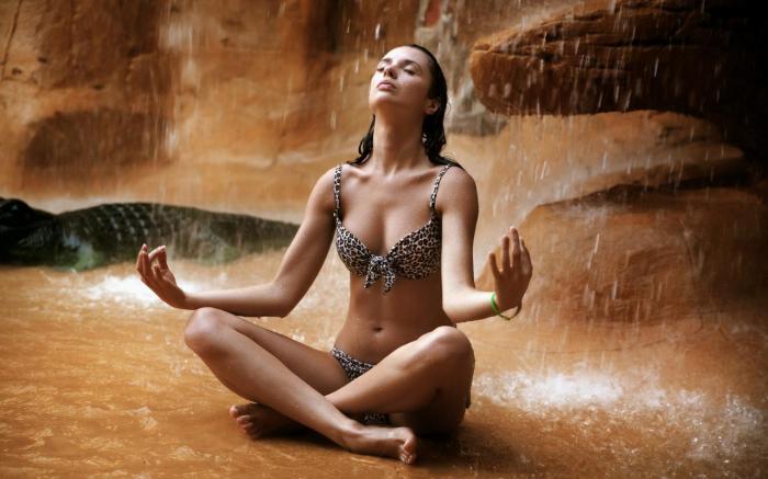 Zen girl meditating