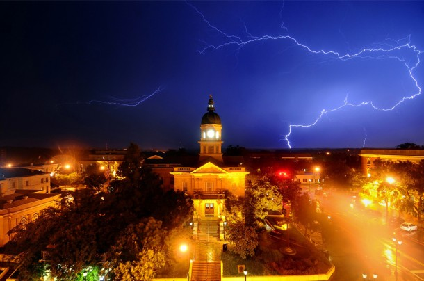 Lightning in Athens, Georgia