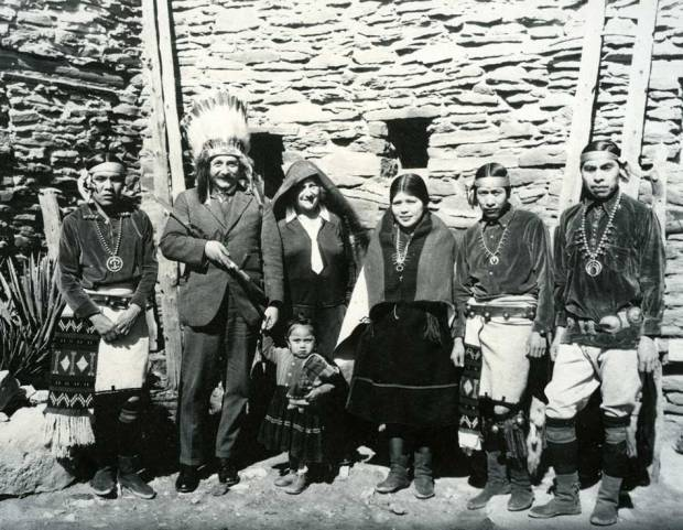 Albert Einstein with a group of Hopi Indians, 1922.
