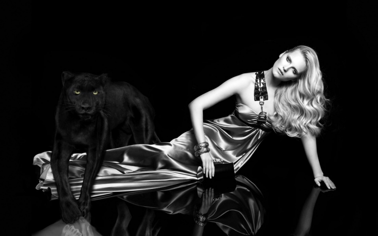 Woman and Panther