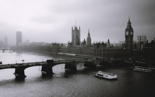 London - Big Ben, Parliament and the Thames River.