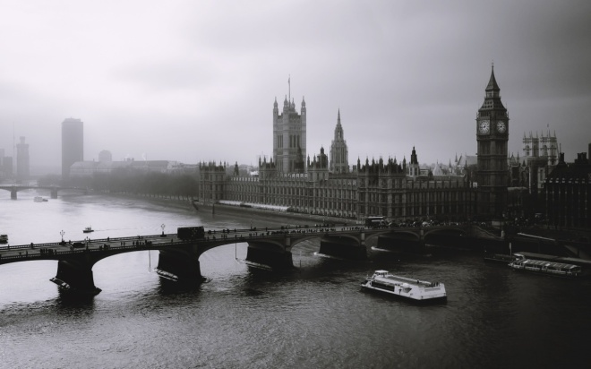 London - Big Ben, Parliament and the Thames River.