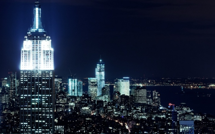 Empire State building and view of Manhattan.