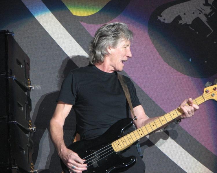 Bassist Roger Waters of Pink Floyd