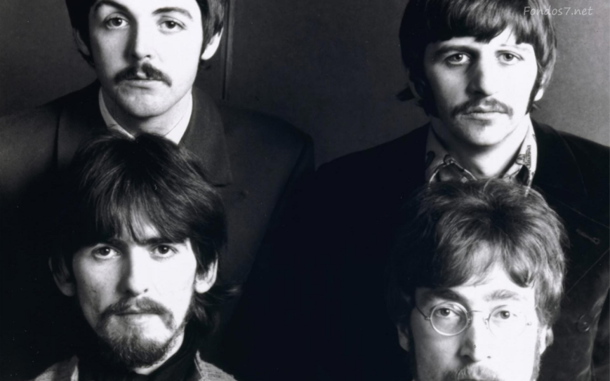 The Beatles - Paul McCartney, Ringo Starr, George Harrison and John Lennon.