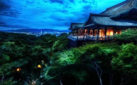 Kyoto, Japan Sunset