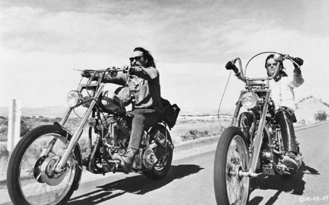From the movie Easy Rider, Dennis Hopper and Peter Fonda