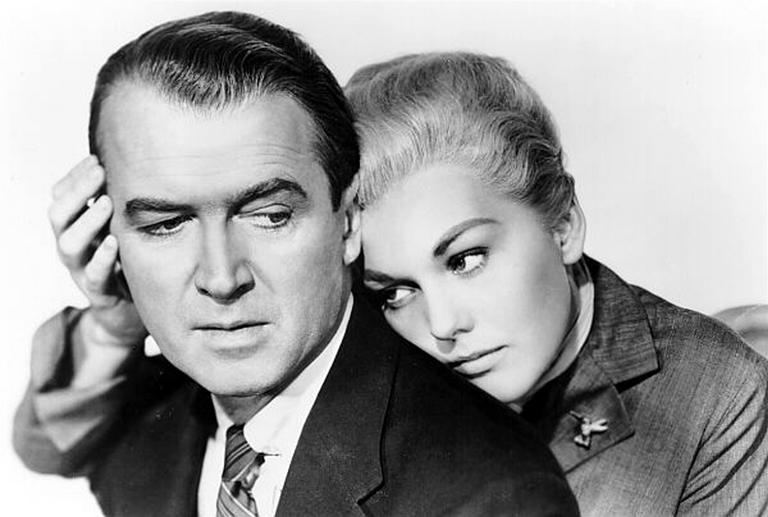 James Stewart and Kim Novak