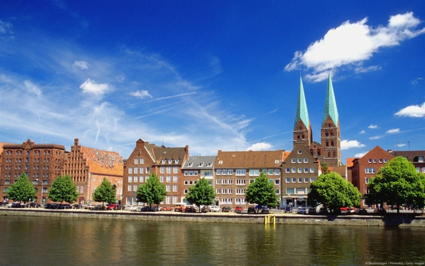 The river of Luebeck in Germany