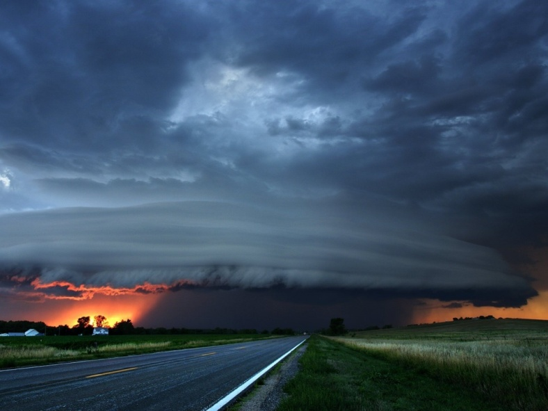 Storms, clouds and a shaft of sunlight