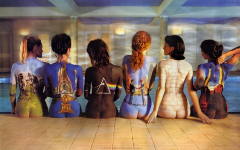 Body painted women for Pink Floyd cover.