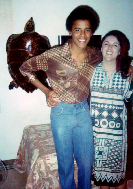 Barack Obama and his mother Ann Dunham