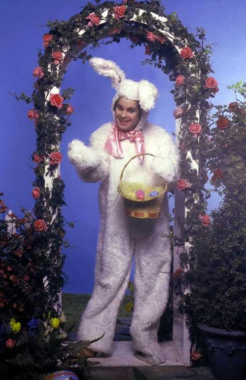 Ozzy Osbourne as an Easter Bunny