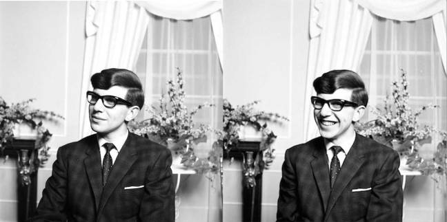 A young Stephen Hawking, 1963.