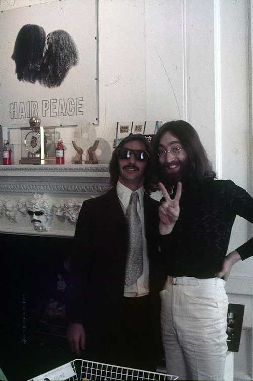 Ringo Starr and John Lennon