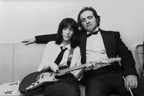 Patti Smith and John Belushi, 1976.