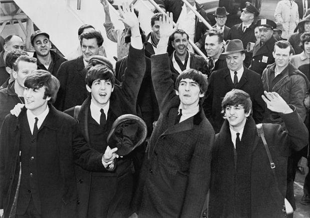 The Beatles arrive at John F. Kennedy International Airport, 7 February 1964