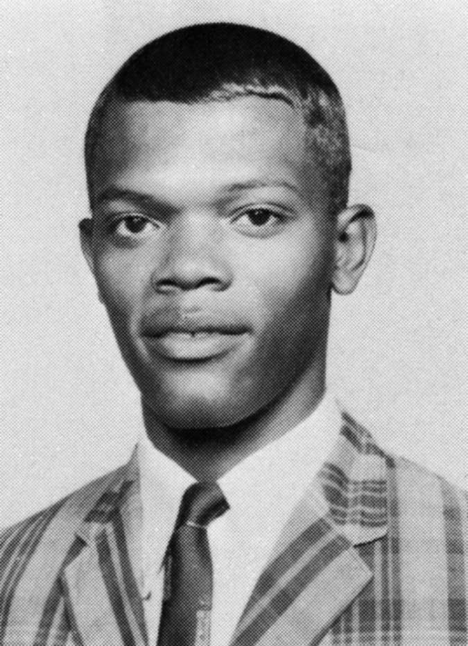 Samuel L. Jackson in high school.