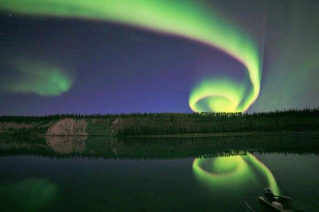 Spiral Aurora Borealis
