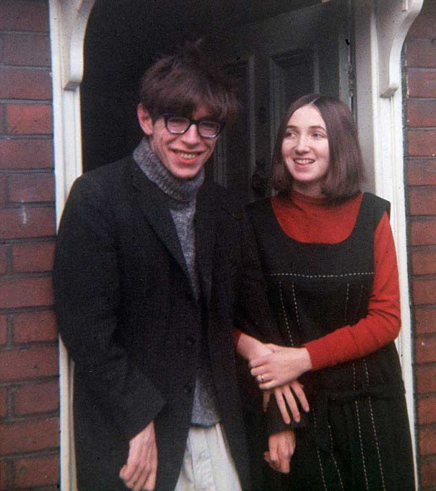Stephen Hawking and his wife Jane Wilde, 1965.
