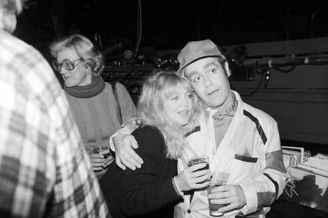 Goldie Hawn and Elton John at Studio 54.