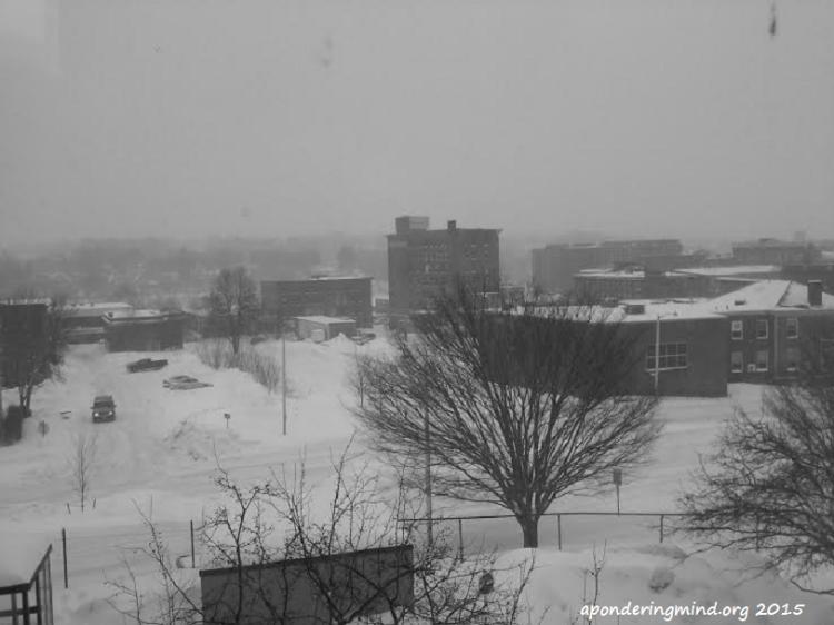 Monochrome photo taken @ 9:02 A.M.