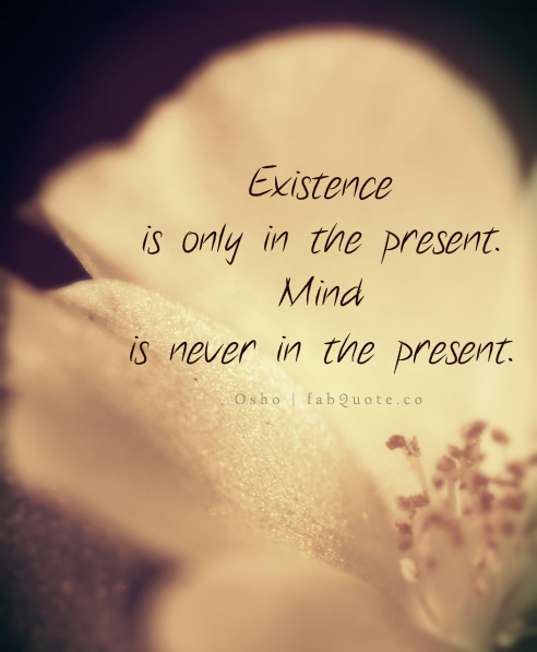 Osho-Mind-in-never-in-the-present