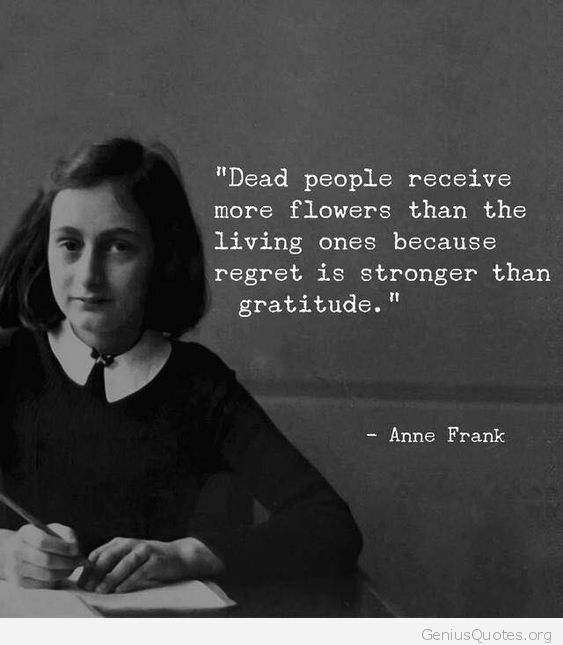 Removed anne frank quote happens. Let's